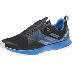 adidas TERREX Two Boa Trail-Running Shoes Men Core Black/Grey One/Bright Blue